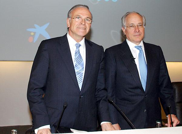 Isidro Fainé y Juan María Nin.