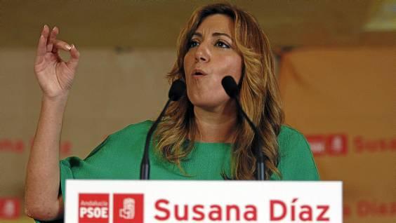 La consejera de la Presidencia, Susana Díaz, presentó ayer su candidatura a liderar el PSOE-A en Antequera. / EFE