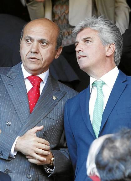 José María del Nido y Miguel Guillén, en el palco del estadio Ramón Sánchez-Pizjuán.  (Marcamedia).