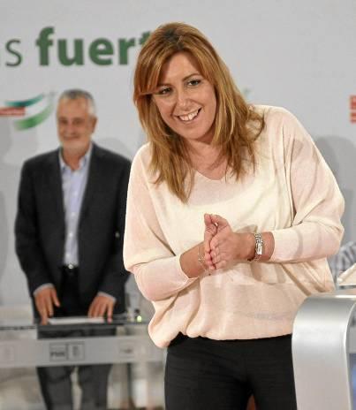 La futura presidenta de la Junta, Susana Díaz.