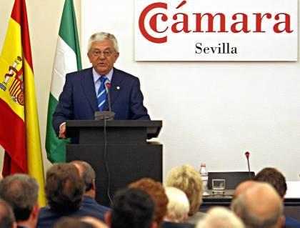 Francisco Herrero, presidente de la Cámara de Comercio de Sevilla, en una imagen de archivo. / Antonio Acedo