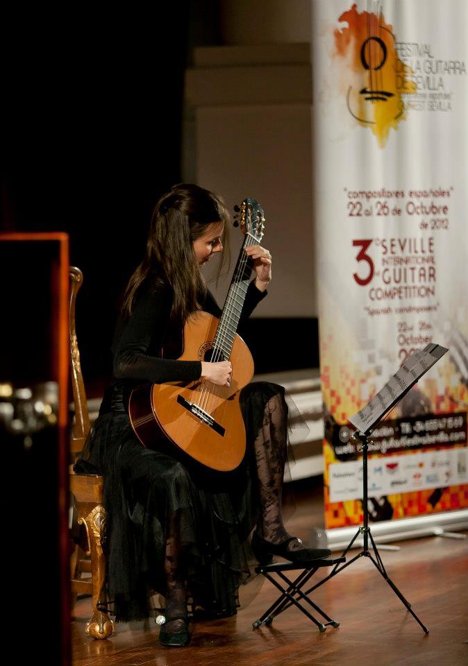 Sanja Plohl, ganadora del Festival de la Guitarra del pasado año.
