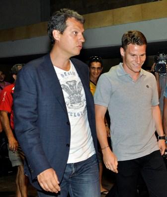 Kevin Gameiro, en el aeropuerto de San Pablo (Marcamedia).