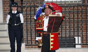 Anuncio del nacimiento del hijo de los Duques de Cambridge. Foto: EFE