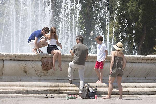 Calor en Sevilla. Plaza de España. / J.M. Paisano (Atese)