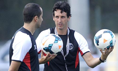 Emery, en un entrenamiento. (Marcamedia)