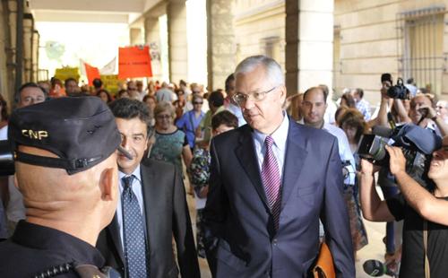Manuel Gómez a su llegada a los juzgados. Foto: EFE