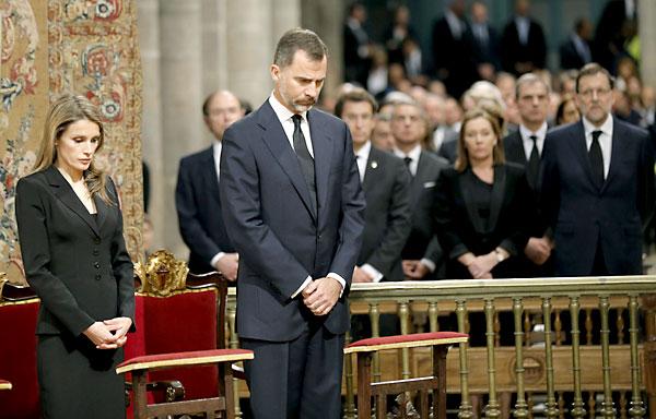 Funeral en Santiago de Compostela por las 79 víctimas del tren. / Foto: EFE/REUTERS
