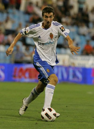 Kevin Lacruz, en un partido con el Zaragoza.