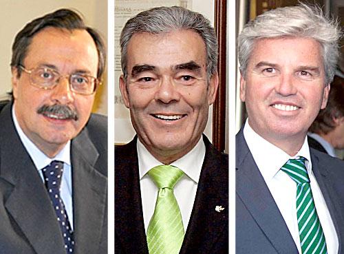 De Izda. a dcha. Luis Cáceres, Alberto López y MIguel Guillén.