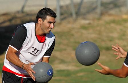 Reyes, entrenándose en Costa Ballena.