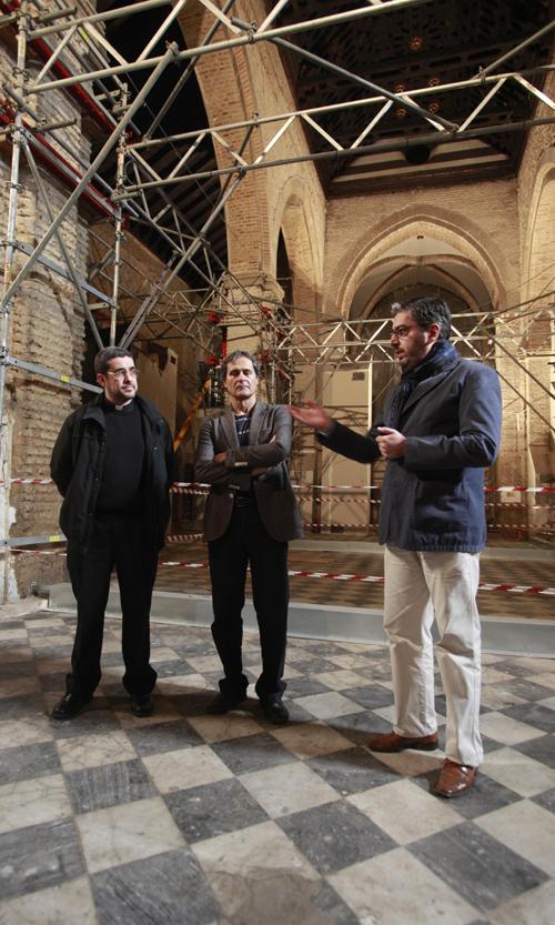 Francisco Román, Francisco Jurado y Pablo Enríquez, en una visita. Foto: Estefanía González (Atese)