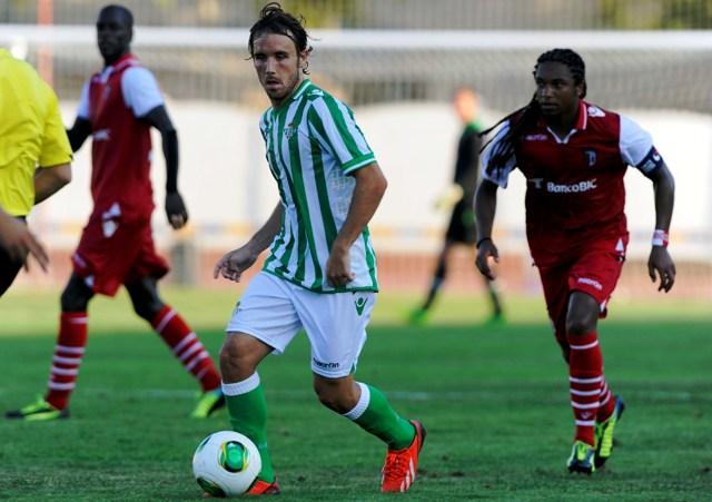 Joan Verdú, en el amistoso con el Sporting de Braga / Marcamedia