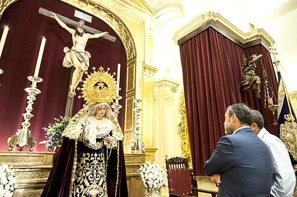 Tres meses ha durado el obligado exilio de la Virgen de los Estudiantes a causa de su restauración. / J. M. Paisano (Atese)