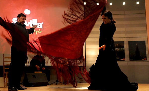 Yerbabuena, durante su impresionante actuación en la Eurocámara