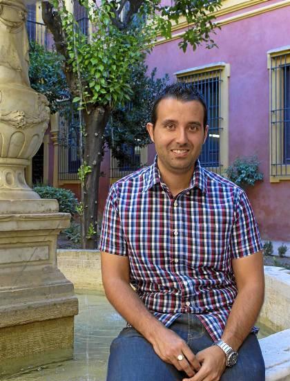 El presidente de Manos Unidas Sevilla, AntonioJesús Mateos, en el Palacio Arzobispal. Foto: Manuel R.R. (Atese)