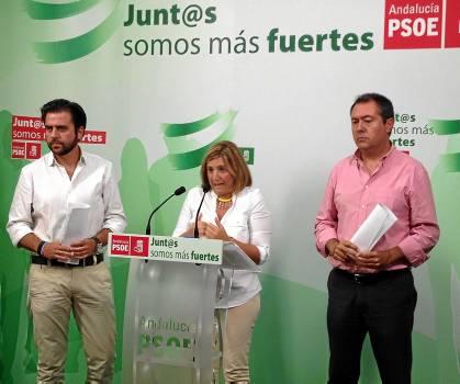 Francisco González, Irene García y Juan Espadas