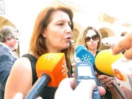 Declaraciones a los medios de Carmen Crespo
