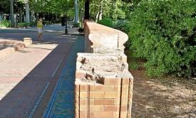 Vandalismo en el parque de María Luisa