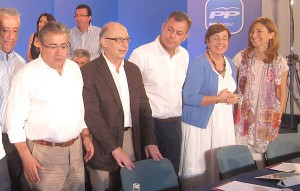 Zoido y Montoro, en una reunión del PP-A.