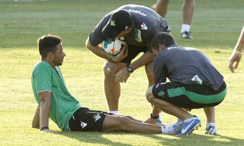 Pepe Mel confía en que Rubén Castro esté listo el próximo jueves.