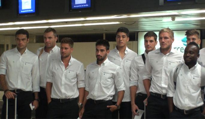 Los jugadores del Betis, esta mañana en San Pablo / Real Betis