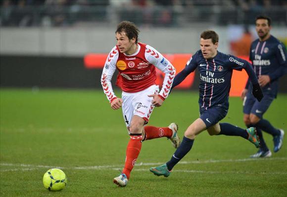 Grzegorz Krychowiak, en un partido con el Reims / Fakt