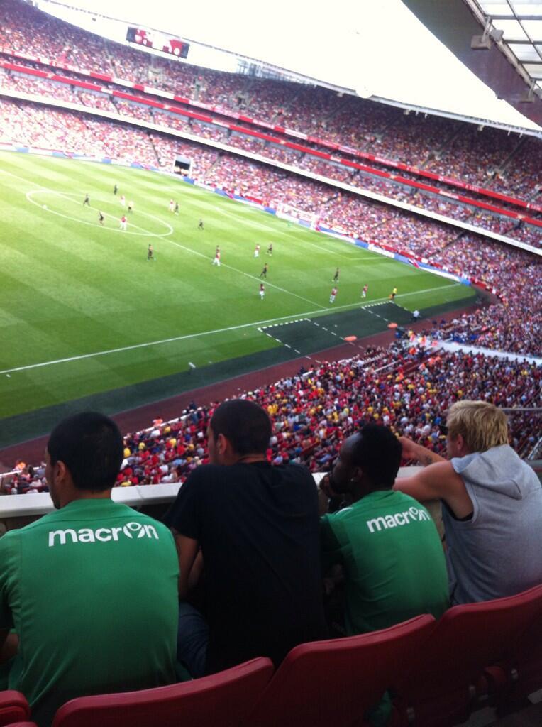 Reyes, Braian, Cedrick y Perquis, en el Emirates / Noemí de Miguel