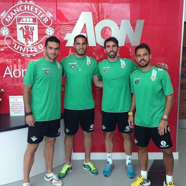 Jorge Molina, Braian Rodríguez, Jordi Figueras y Matilla, en el Aon Training Complex.