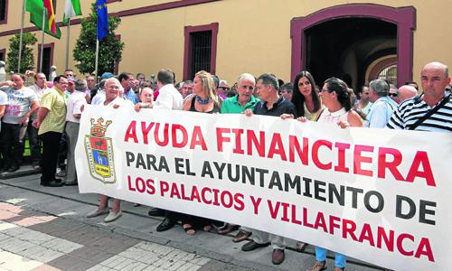 protesta diputacion los palacios