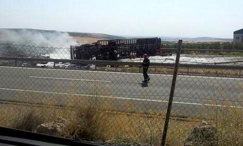 Accidente en Écija. Foto: Josema González ?@garhides / Twitter