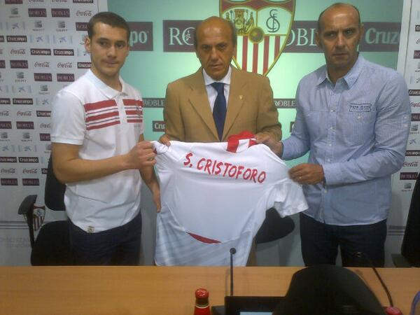 Del Nido, con Cristóforo y Monchi. (Foto: Sevilla FC)