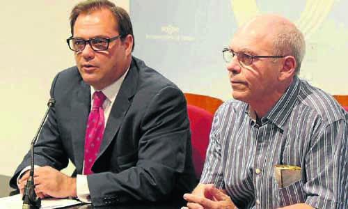 Jaime Ruiz Fernando López Luna durante la rueda de prensa.