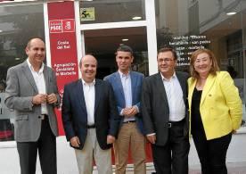 Gaspara Zarrías, ayer, con socialistas granadinos. / E.P.