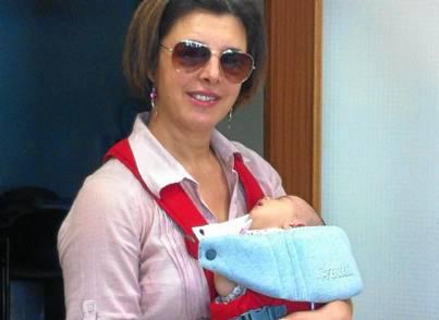 Martina con su hija Laura.