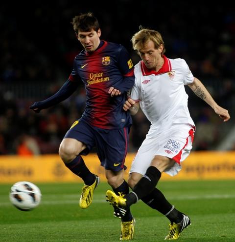 Messi y Rakitic, durante el partido de la pasada temporada.