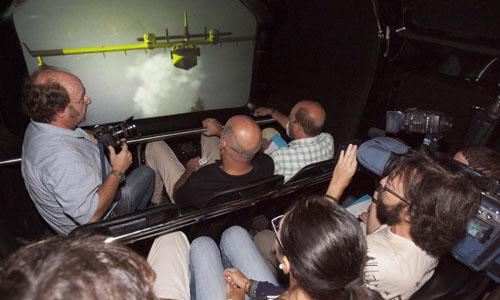Sevilla 25 09 2013: Presentación del emulador de vuelo de la patrulla