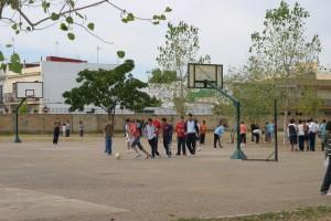 Alumnos en el instituto Miguel de Mañara de La Rinconada