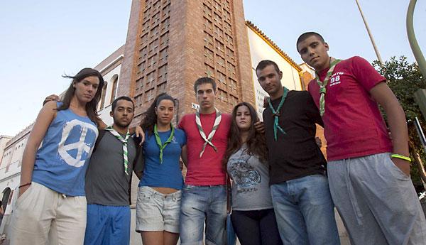 Miembros del grupo scout Inti Raymi. / J.M Paisano (Atese)