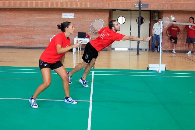 Laura Molina y Juan Manuel Fernández, en el partido de dobles mixtos.
