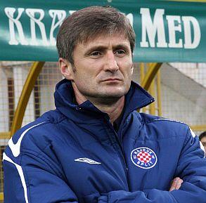 Robert Jarni, en su etapa al frente del Hajduk Split.