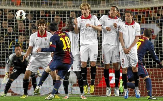 Messi, en la última visita del Sevilla al Camp Nou (Marcamedia).