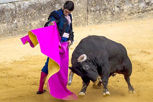 Morante de la Puebla durante la pasada Goyesca. / EFE