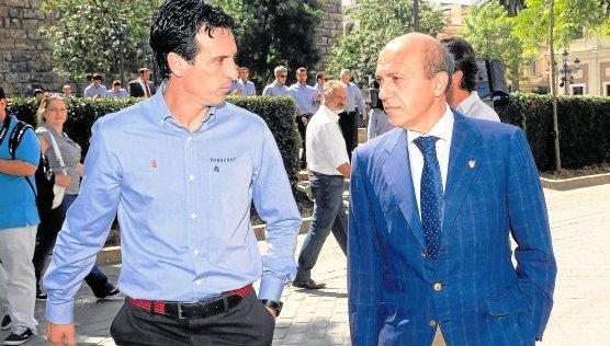 Del Nido, con Unai Emery.