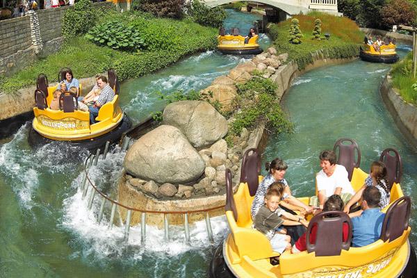 Atracción de Aquaventura slidepark de Holanda.