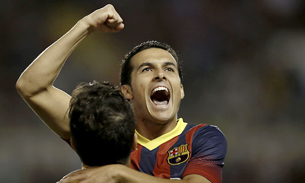 Pedro consiguió un hat-trick. / REUTERS