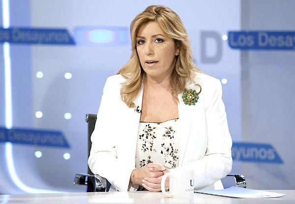 """Susana Díaz, durante una entrevista en el programa """"Los desayunos de TVE"""". / EFE"""