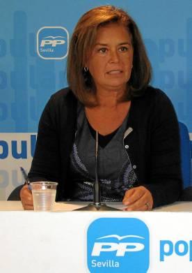 La alcaldesa de Palomares del Río, Dolores Rodríguez.
