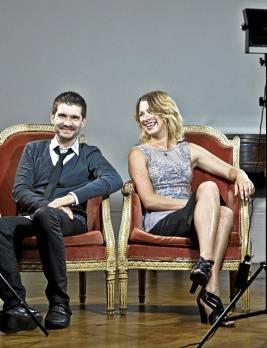 El realizador José F. Ortuño junto a la actriz Aïda Ballmann.