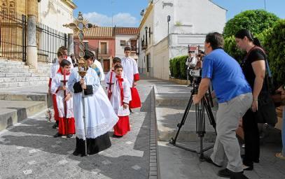 Uno de los momentos del rodaje, llevados a cabo en parte en la localidad de Utrera.